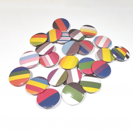 LGBT+ Community Flag 25mm Badges