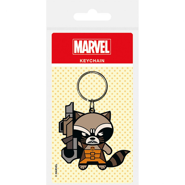 Marvel  Guardians Of The Galaxy Rocket Raccoon Rubber Keyring