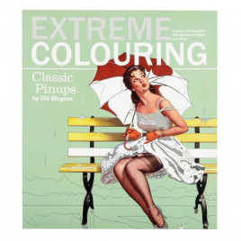 Extreme Colouring Classic Pinups Book Colouring Book Adult Art Therapy