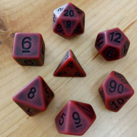 D20 Polyhedral 7 Piece Dice Set - Ancient Matt Red