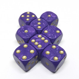 Set Of Spot Dice (8 x 16mm D6) - Pearl Purple