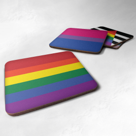 LGBT+ Community Flag Coasters Choose Your Flag