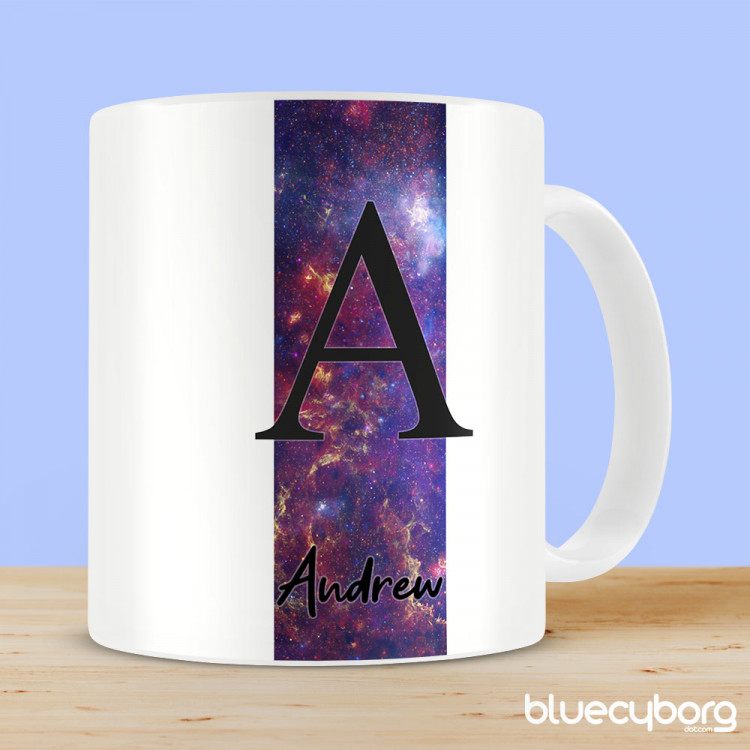 Personalised Mug - Space Milky Way Stripe