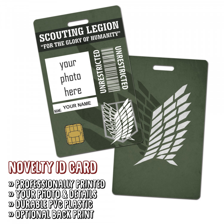 Attack On Titan - Scouting Legion Novelty ID