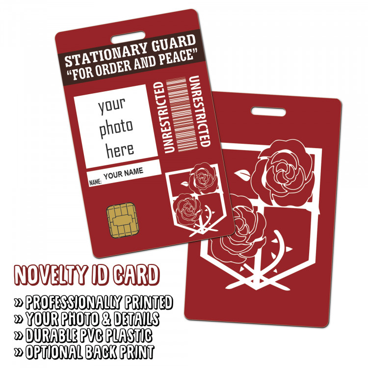 Attack On Titan - Stationary Guard Novelty ID