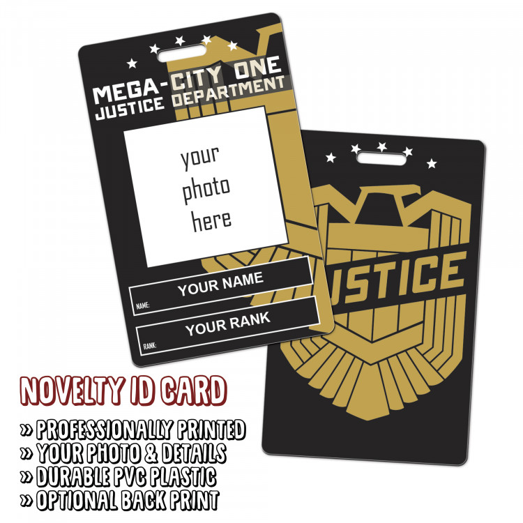 Mega-City One Justice Department Novelty ID
