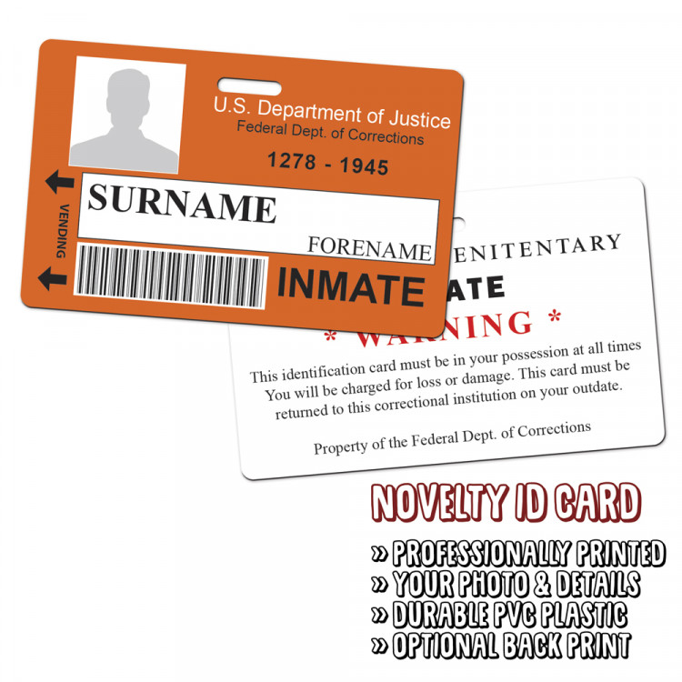 Orange is  the New Black Novelty ID