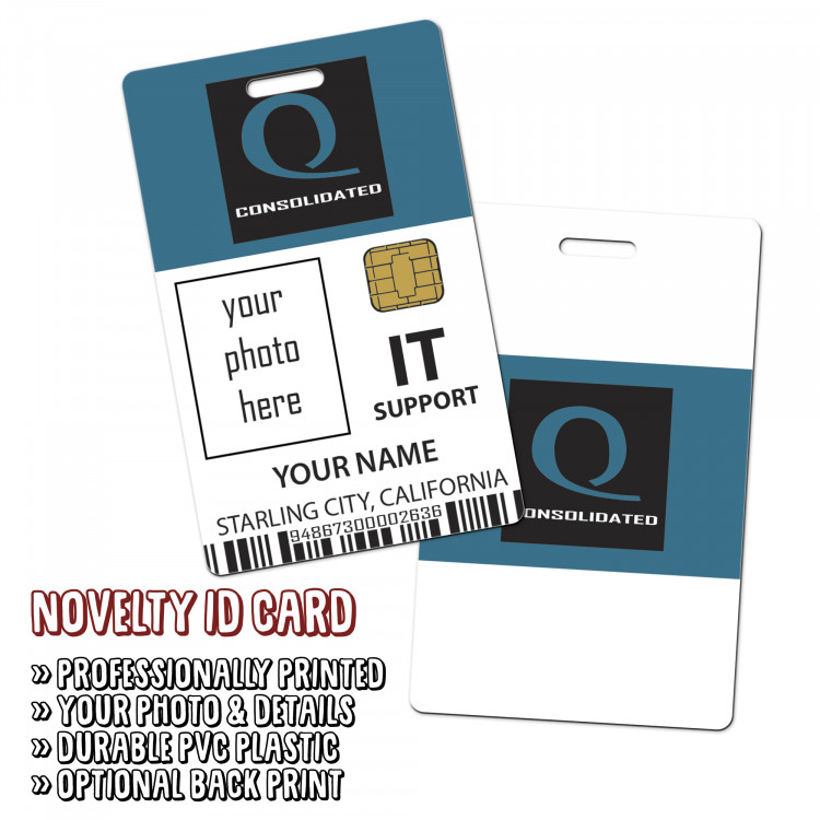 Queen Consolidated IT Support Novelty ID