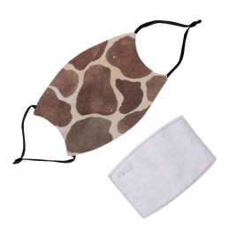 Washable Face Mask With Filter - Animals Giraffe