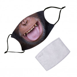 Washable Face Mask With Filter - Animals Chimp