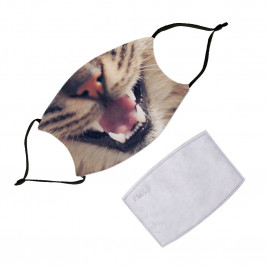 Washable Face Mask With Filter - Animals Wild Cat