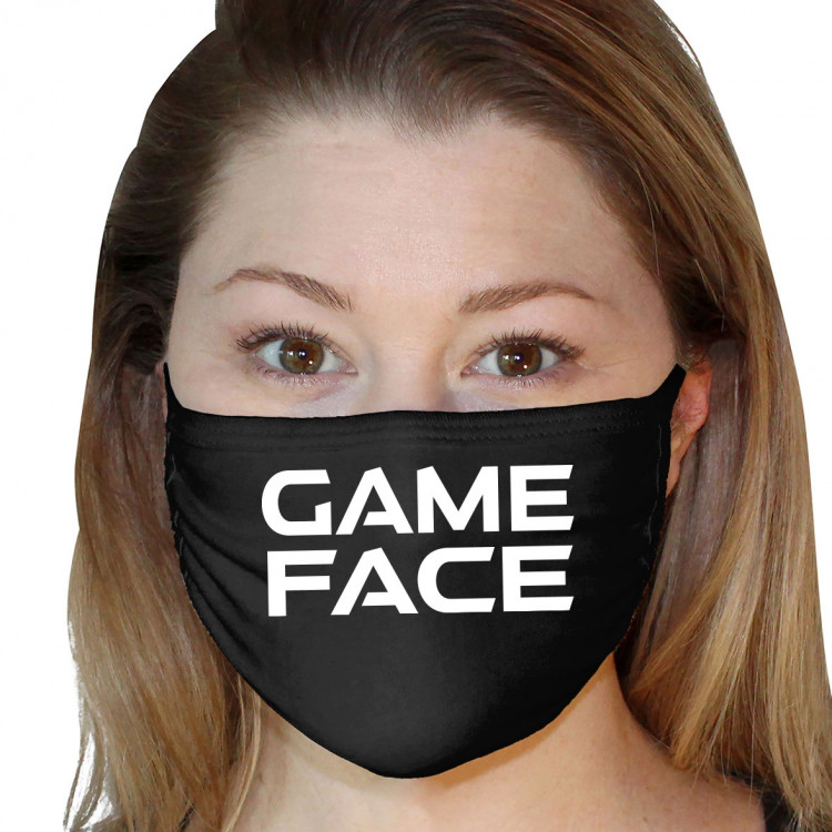 Washable 3Ply Face Mask - Game Face