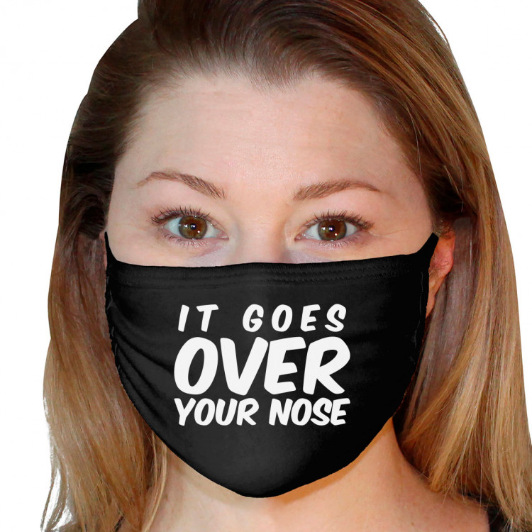 Washable 3Ply Face Mask - Over Your Nose
