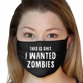 Washable 3Ply Face Mask - I Wanted Zombies