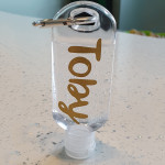Personalised 50ml Refillable Bottle With Clip