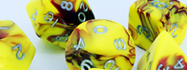 D20 Polyhedral Dice Sets - Toxic